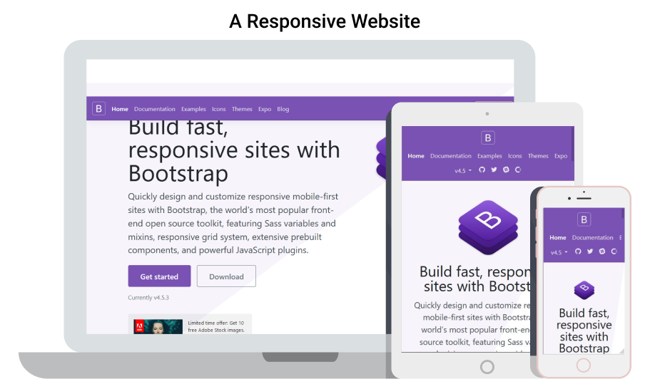 responsive website with bootstrap